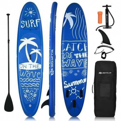 Inflatable & Adjustable Stand Up Paddle Board-M - Size: M - NorCal Cyber Sales