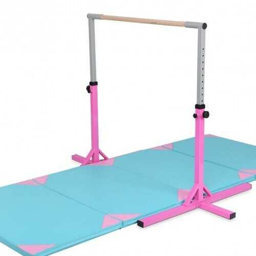 Adjustable Gymnastics Horizontal Bar for Kids - Color: Pink - NorCal Cyber Sales