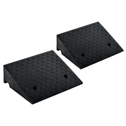 "2 PCS 6"" Rubber Car Curb Ramps - NorCal Cyber Sales"