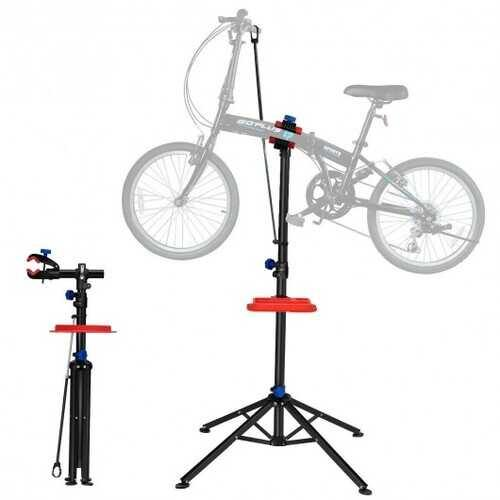 "Pro Bike Adjustable 41"" To 75'' Cycle Bicycle Rack Repair Stand w/ Tool Tray Red - NorCal Cyber Sales"
