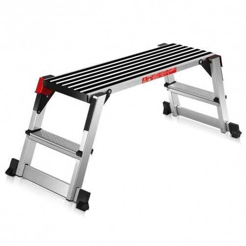 330 lbs Aluminum Folding Non-slip Drywall Step Stool Ladder - NorCal Cyber Sales