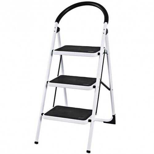 Heavy Duty Industrial Lightweight Folding Stool 3 Step Ladder - NorCal Cyber Sales