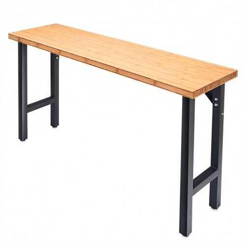 "65"" Bamboo Modular Workbench Table - NorCal Cyber Sales"