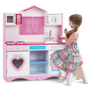 Wood Kitchen Toy Kids Cooking Pretend Play Set - NorCal Cyber Sales