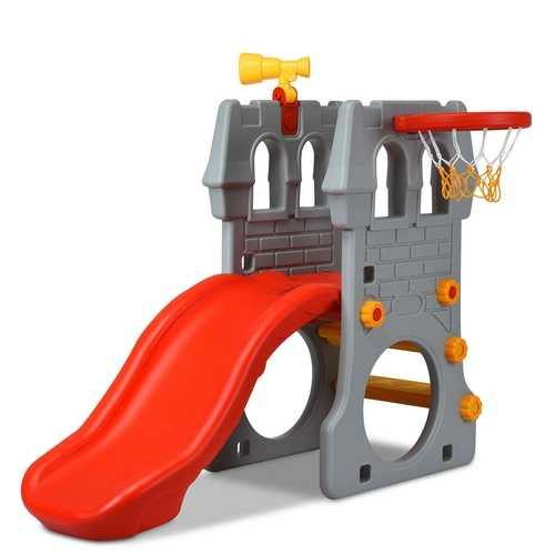 Children Castle Slide with Basketball Hoop and Telescope - NorCal Cyber Sales