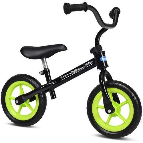 Adjustable Toddler Running Balance Bike with Non-slip Handle-Black - Color: Black - NorCal Cyber Sales