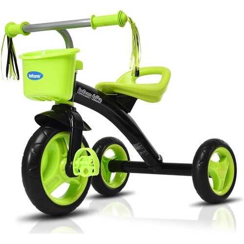 Kids Tricycle Rider with Adjustable Seat-Green - Color: Green - NorCal Cyber Sales