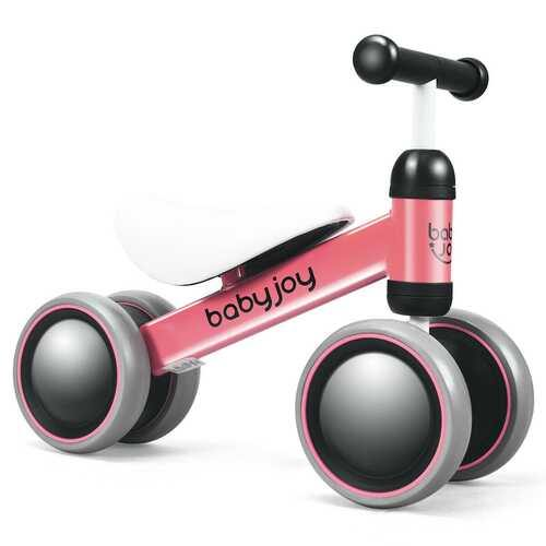 4 Wheels No-Pedal Baby Balance Bike-Pink - Color: Pink - NorCal Cyber Sales