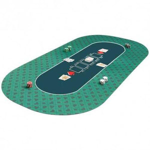Portable Rubber Poker Mat Smooth Waterproof Surface Suitable for Multiplayer to Play - Color: Green - NorCal Cyber Sales