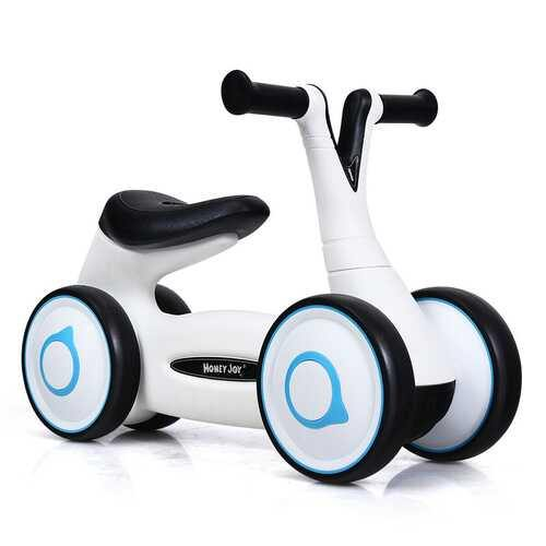 Baby Balance Bike Bicycle Toddler Toys Rides No-Pedal-White - Color: White - NorCal Cyber Sales