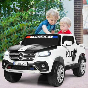 12V 2-Seater Kids Ride On Car Licensed Mercedes Benz X Class RC with Trunk-Black & White - Color: Black & White - NorCal Cyber Sales