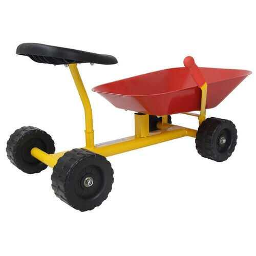 "8"" Heavy Duty Kids Ride-on Sand Dumper w/ 4 Wheels-Red - Color: Red - NorCal Cyber Sales"