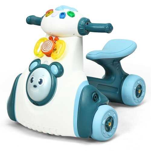 Baby Musical Balance Ride Toy-Blue - Color: Blue - NorCal Cyber Sales