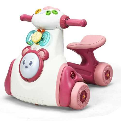Baby Musical Balance Ride Toy-Pink - Color: Pink - NorCal Cyber Sales