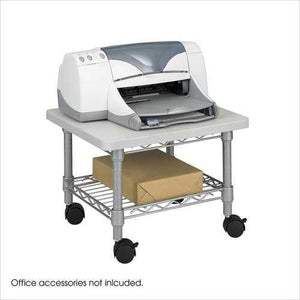 Under Desk Printer Stand Cart with Paper Shelf and Locking Casters - NorCal Cyber Sales