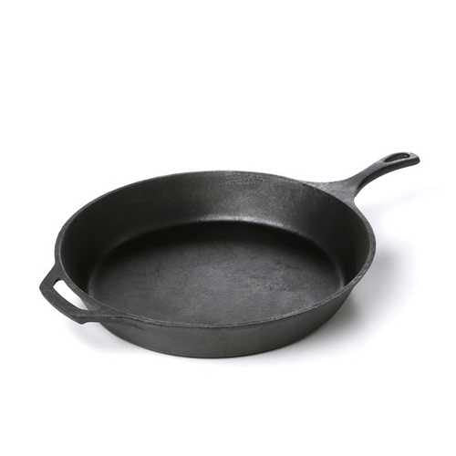 Pre-Seasoned Cast Iron 15-inch Round Skillet - NorCal Cyber Sales