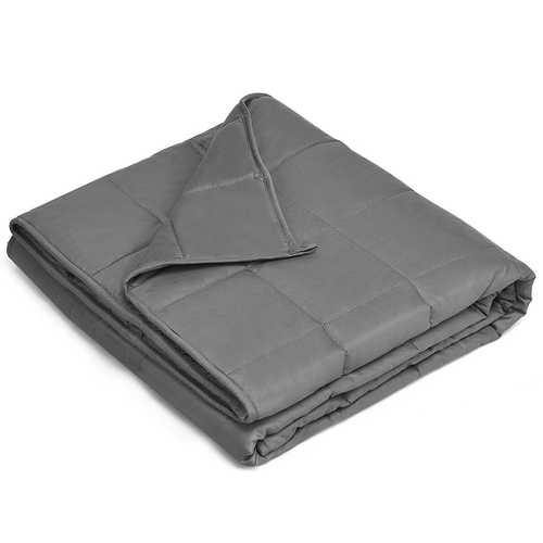 Cotton Weighted Blanket with Glass Beads in Dark Gray 48 x 72 inch - NorCal Cyber Sales