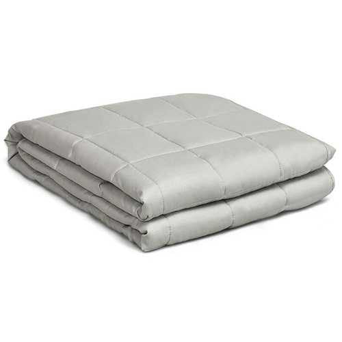 Weighted Blanket with 100% Cotton Cover in Light Gray 48 x 72 inch - NorCal Cyber Sales