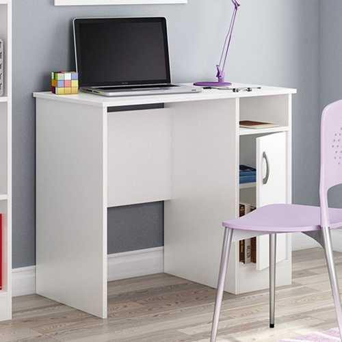 White Computer Desk - Great for Small Home Office Space - NorCal Cyber Sales