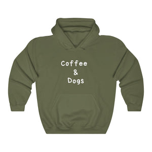 Coffee & Dogs Hooded Sweater, Dog Sweater, Coffee Lovers, Gifts