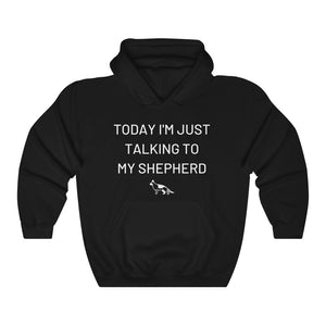 Today I'm Just Talking To My Shepherd Hooded Sweatshirt, Dog Lovers Jumper, Shepherd Hoodie, Unisex Sweatshirt