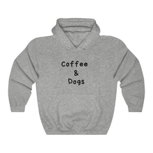 Load image into Gallery viewer, Coffee & Dogs Hooded Sweater, Dog Sweater, Coffee Lovers, Gifts