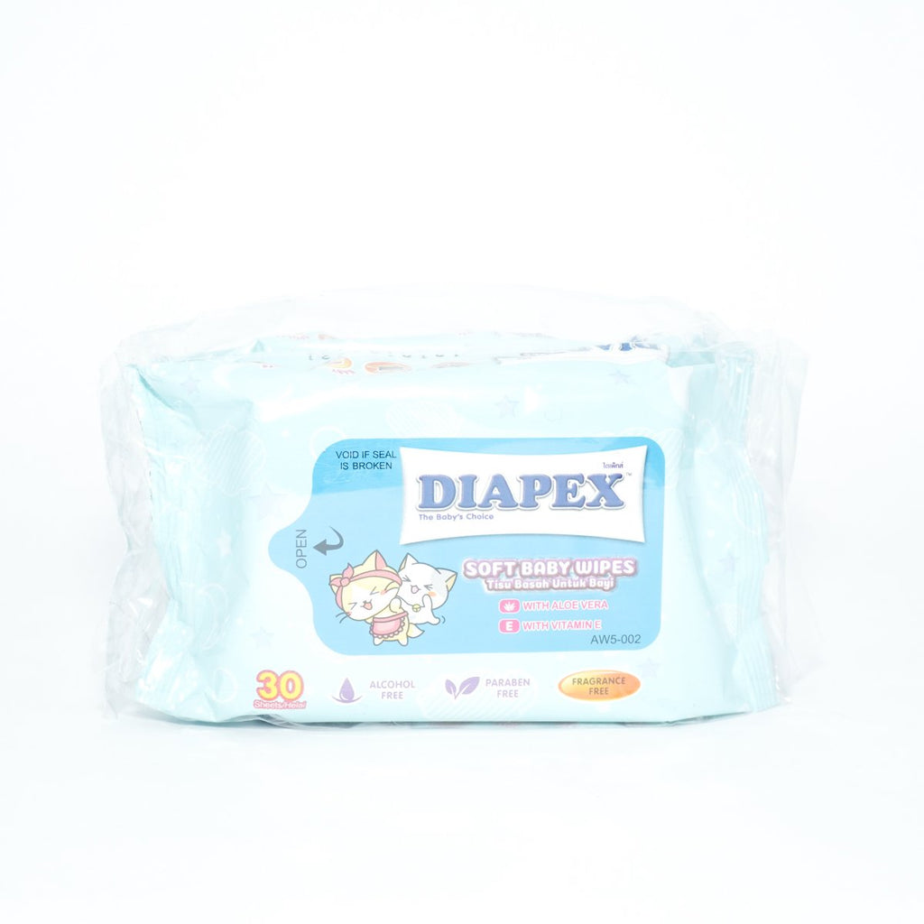 DIAPEX SOFT BABY WIPES 2*30'S