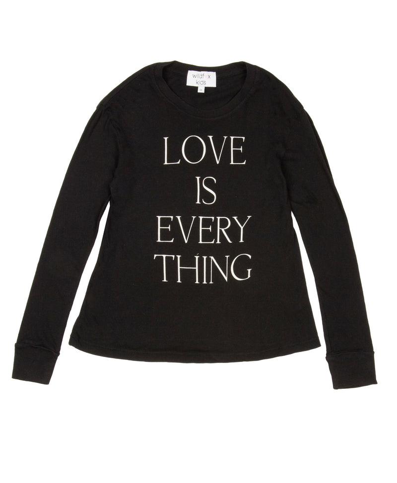 Wildfox Love is Everything Long Sleeved T-Shirt (White and Black)