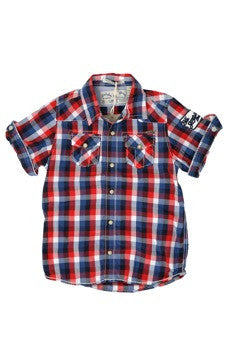 Scotch Shrunk Check Shirt (2 colours green and red)