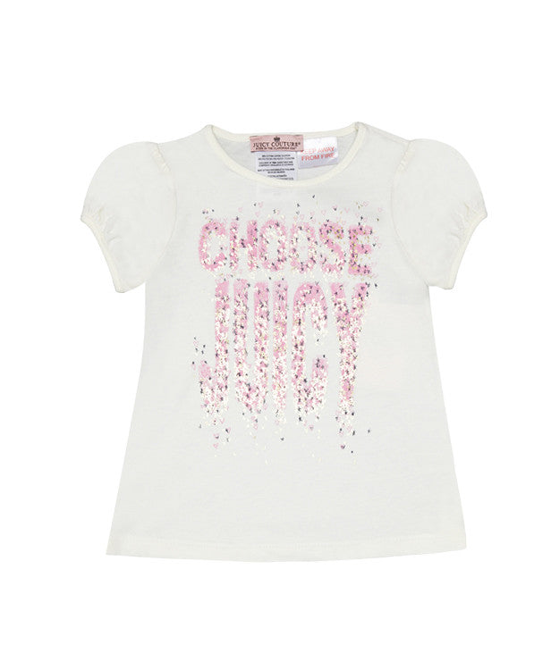Baby Girls Choose Juicy T-Shirt - Children's Fashion Outlet