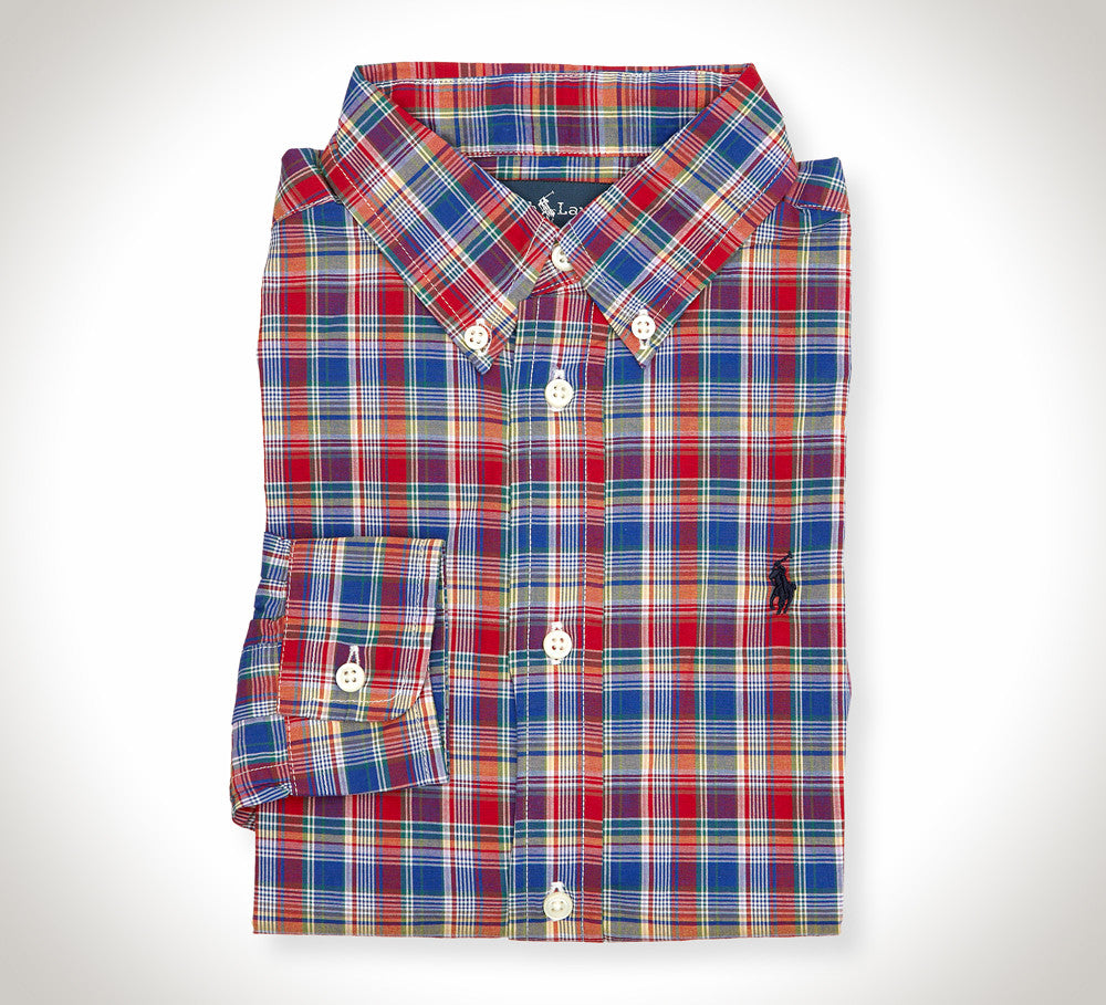 Ralph Lauren Twill Red Plaid Shirt