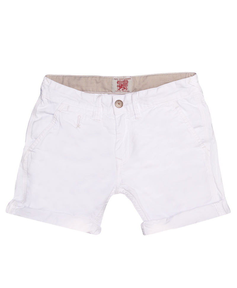 Pepe Jeans Girls White Shorts