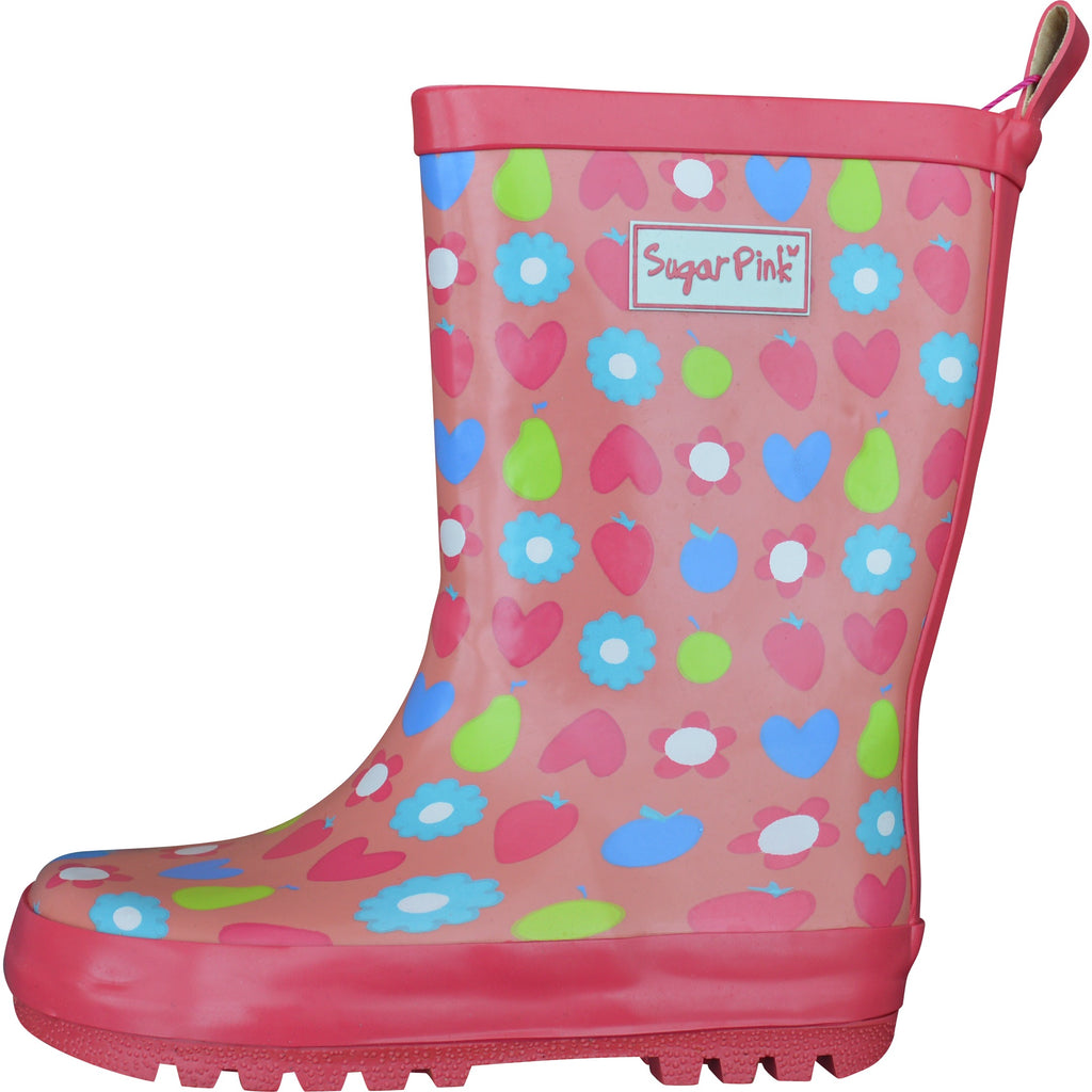 Sugar Pink Wellington Boots