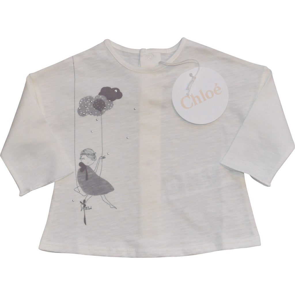 Chloe Grey Cloud Long Sleeved Top - Children's Fashion Outlet