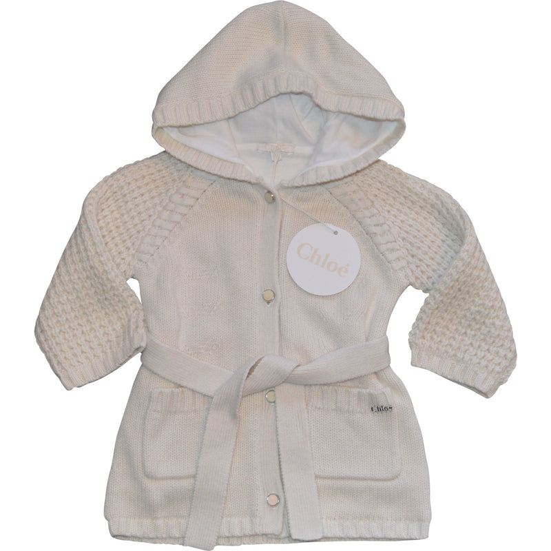 Chloe Cream Chunky Cardigan - Children's Fashion Outlet