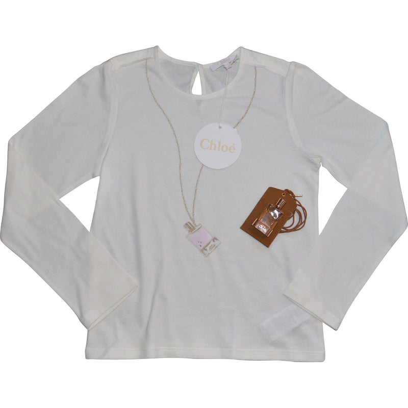Chloe Long Sleeved Top with Complimentry Chloe Perfume Bottle and Perfume - Children's Fashion Outlet