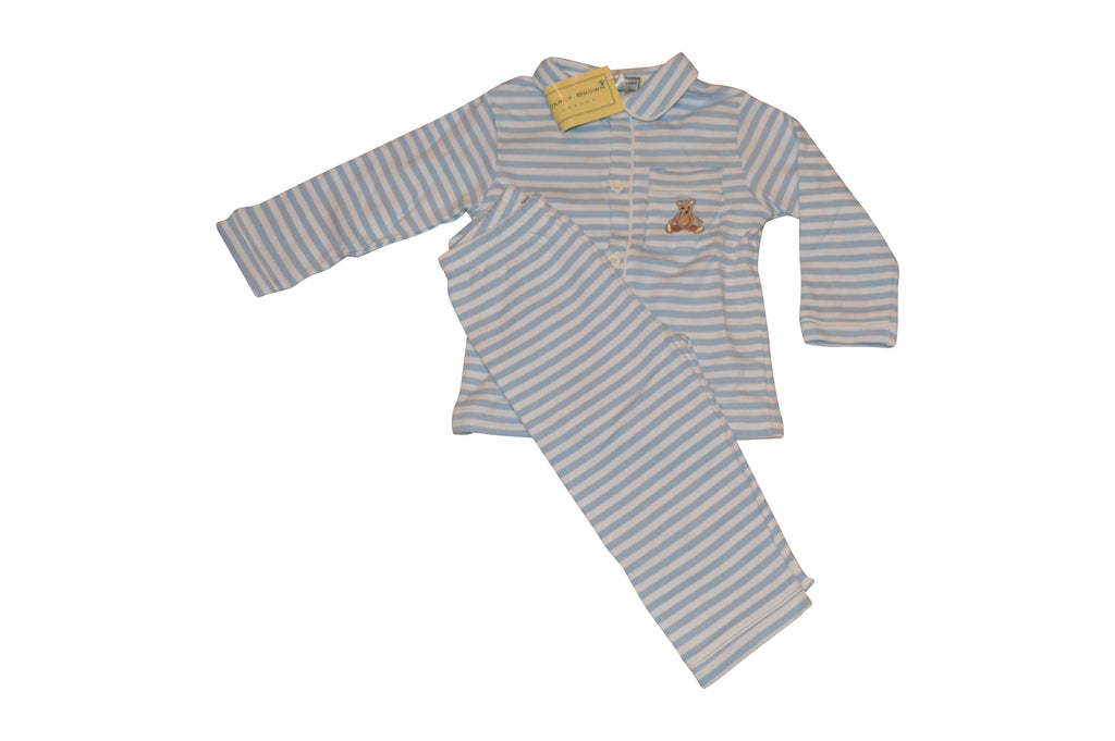 Darcy Brown Striped Teddie Pjs - Children's Fashion Outlet