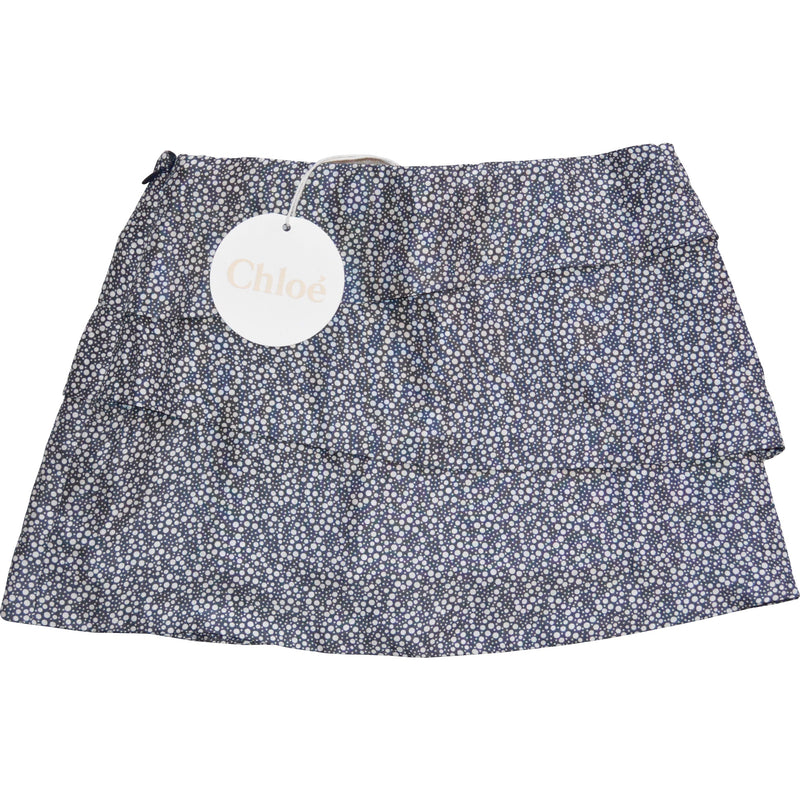 Chloe Navy Printed Skirt - Children's Fashion Outlet