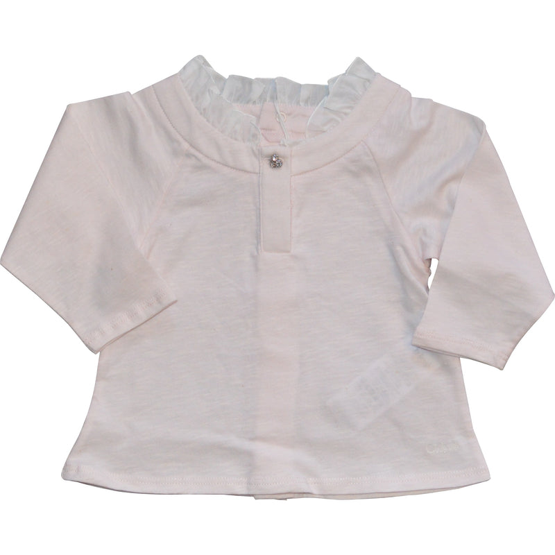 Chloe Long Sleeved Diamonte Top - Children's Fashion Outlet