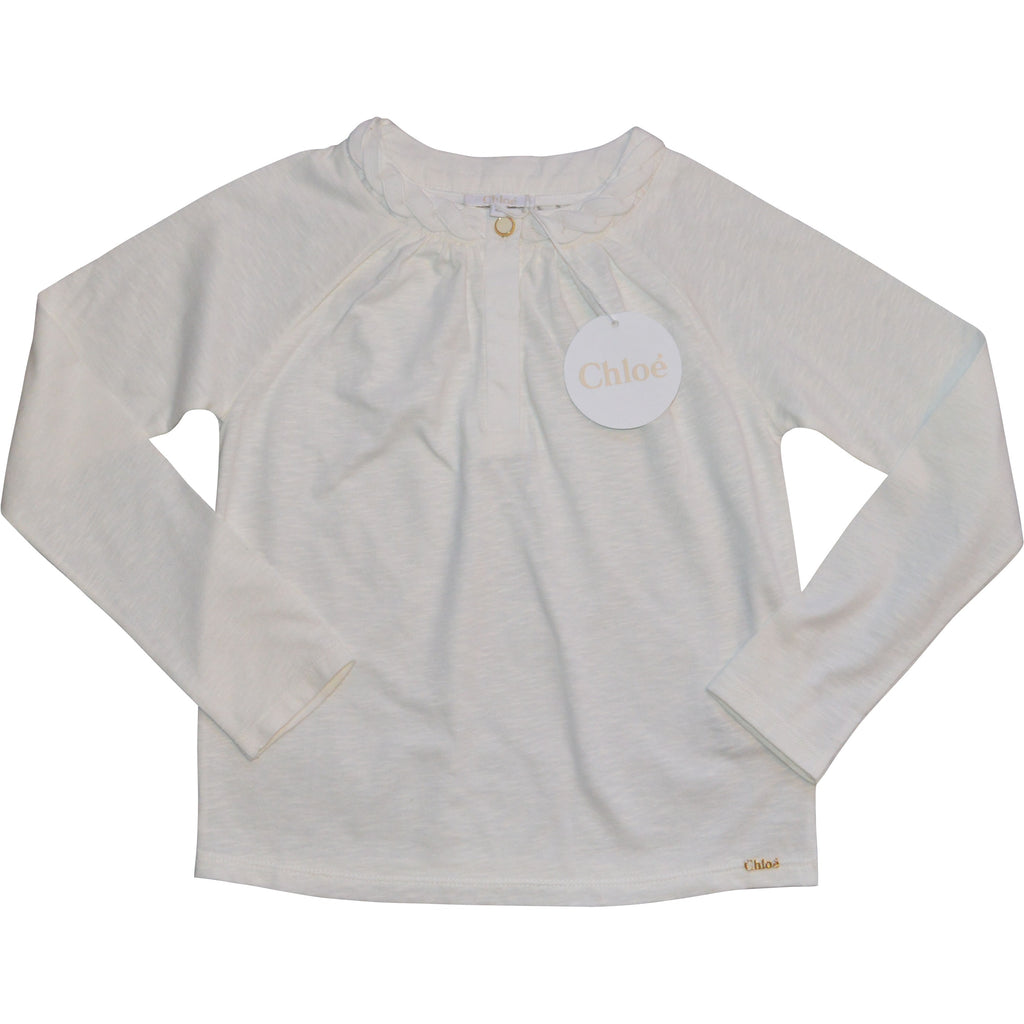 Chloe Twisted Neck Blouse - Children's Fashion Outlet