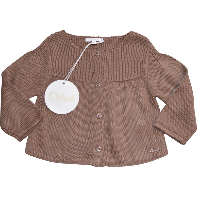 Chloe Brown Cardigan - Children's Fashion Outlet