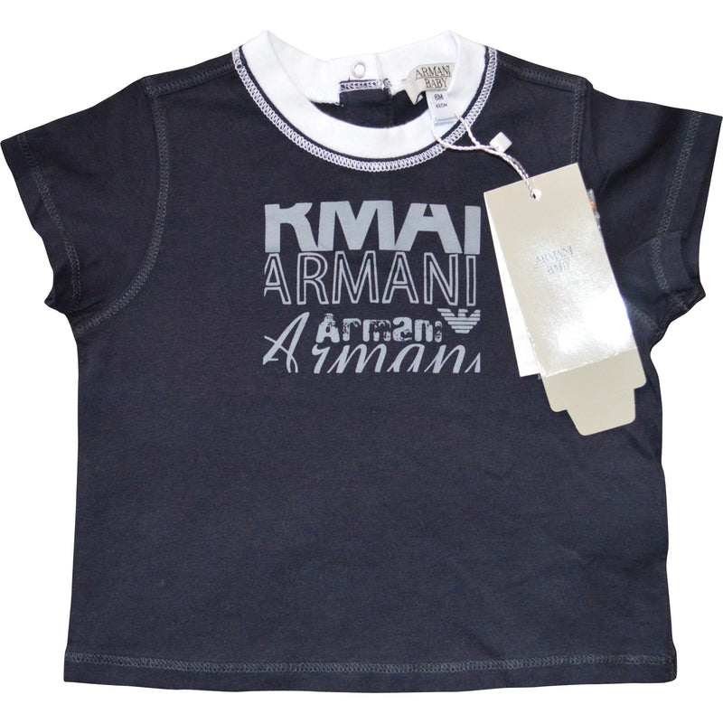 Armani Baby Logo T-Shirt (3 Colours) - Children's Fashion Outlet