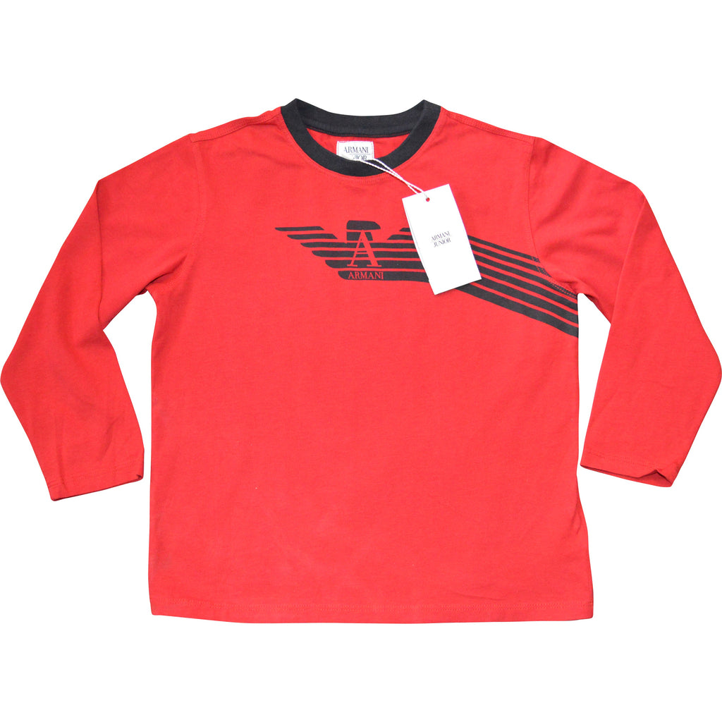 Armani Long Sleeved T-Shirt - Children's Fashion Outlet