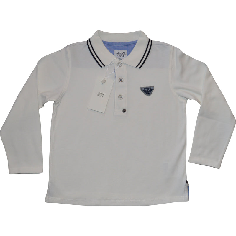 Armani Cream Polo Shirt - Children's Fashion Outlet
