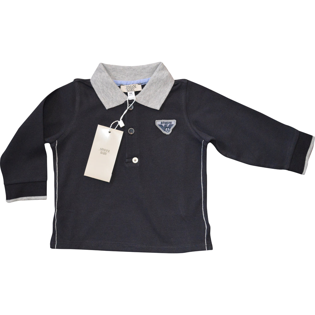 Armani Navy Polo Shirt - Children's Fashion Outlet