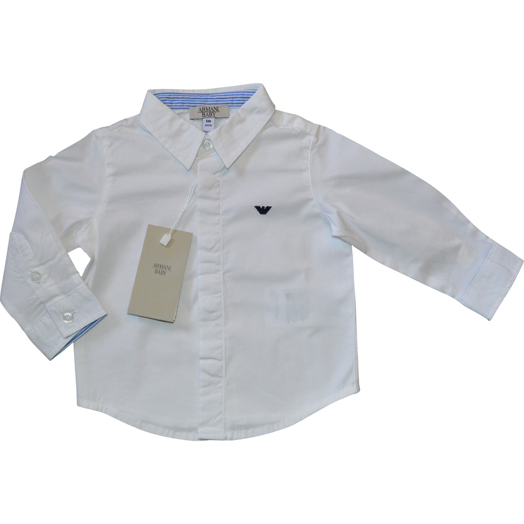 Armani Baby White Shirt - Children's Fashion Outlet