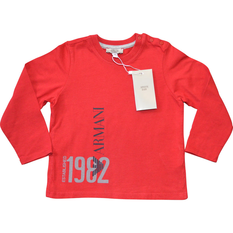 Armani Baby Long Sleeved T-Shirt (2 colours) - Children's Fashion Outlet