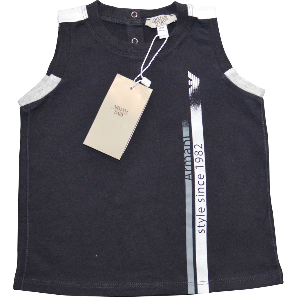Armani Baby Logo Vest Top - Children's Fashion Outlet