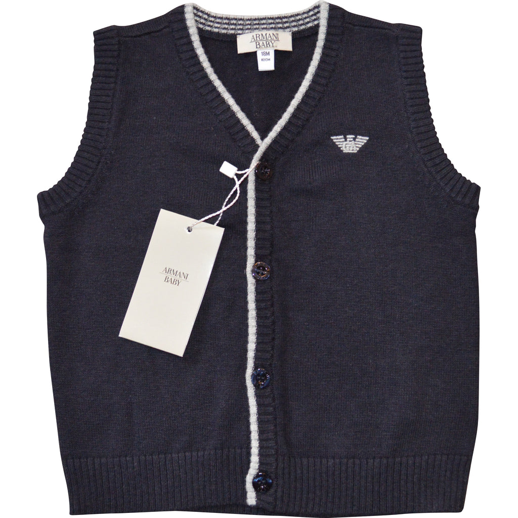 Armani Baby Sleeveless Waistcoat - Children's Fashion Outlet