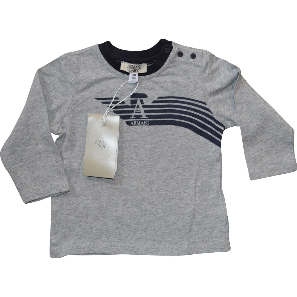 Armani Baby Long Sleeved T-Shirt - Children's Fashion Outlet